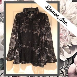 💥Damee, Inc. illusion floral blazer💥